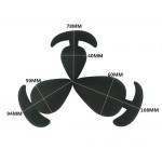 Комплект аналени разширители Black Power
