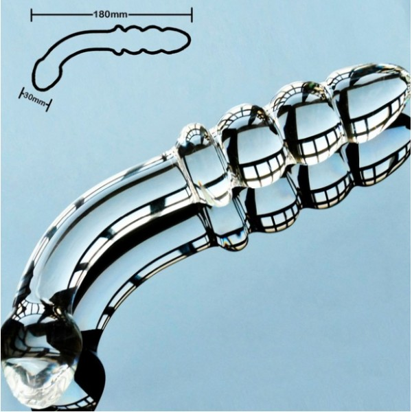 Стъклено двойно дилдо DUO - Стъклени